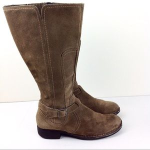 Clarks Suede Riding Boots 8
